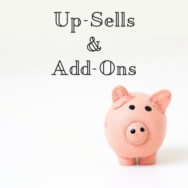 upsells and add ons online course