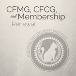 Renewal for CFMG, CFCG and Membership