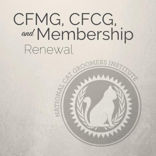 Renewal for CFMG, CFCG and Membership