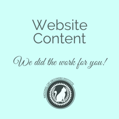 website content for cat groomers